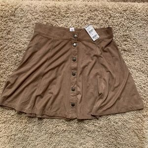 Tilly's Suede Button Up Skirt